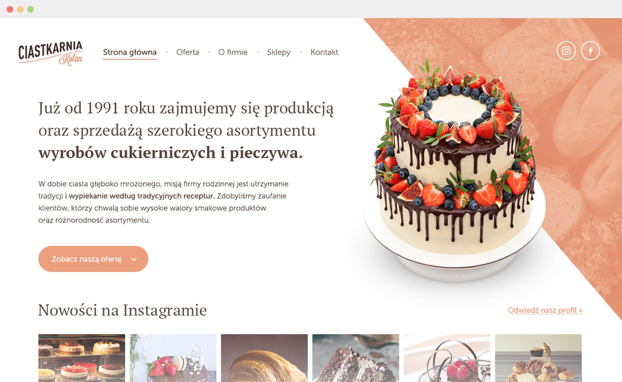 Ciastkarnia Kolan website