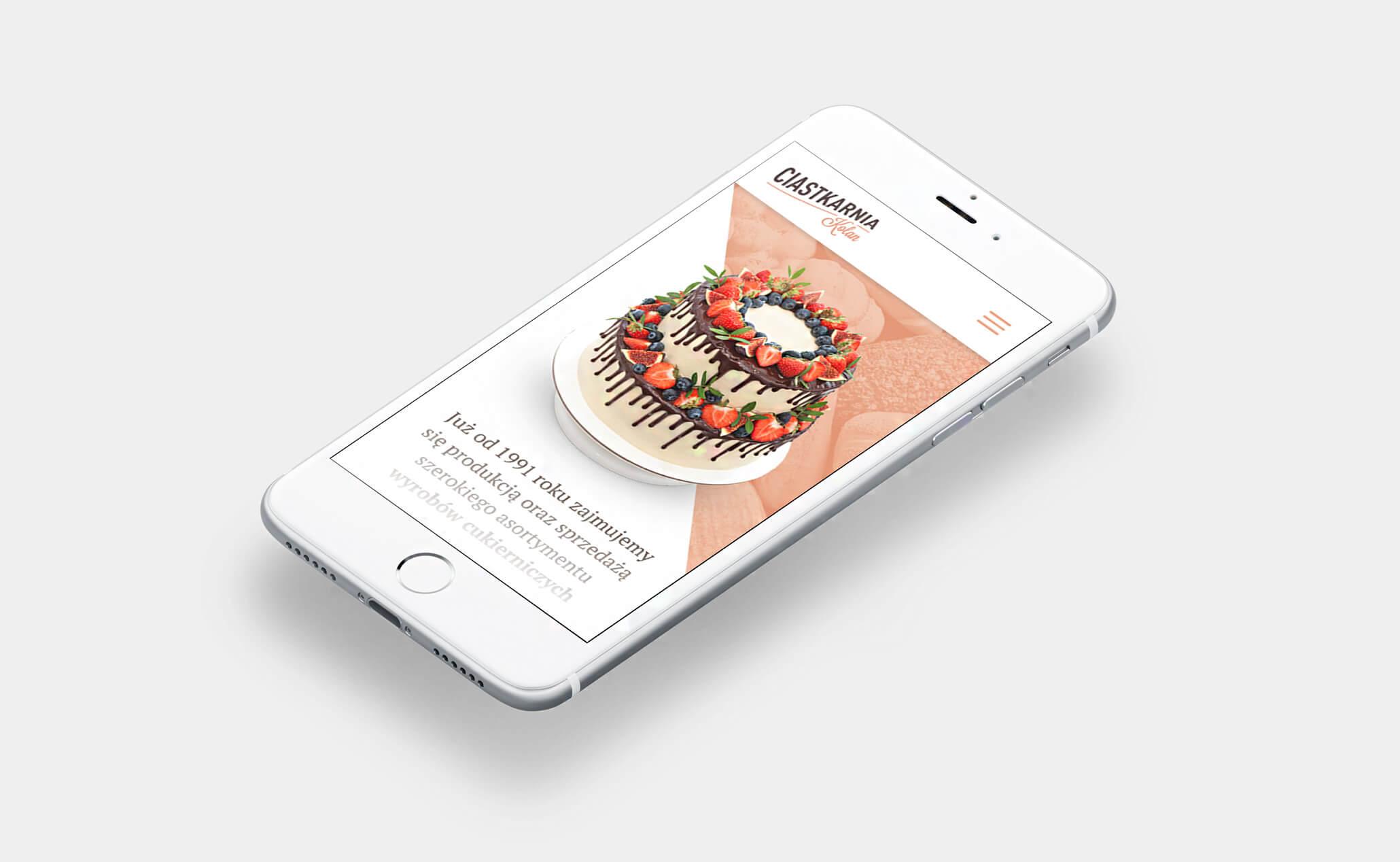 Ciastkarnia Kolan website (iPhone)